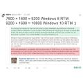 MS 윈도우 10 RTM 빌드 넘버는 10800? 그에 대한 근거로 3가지 공식 소개