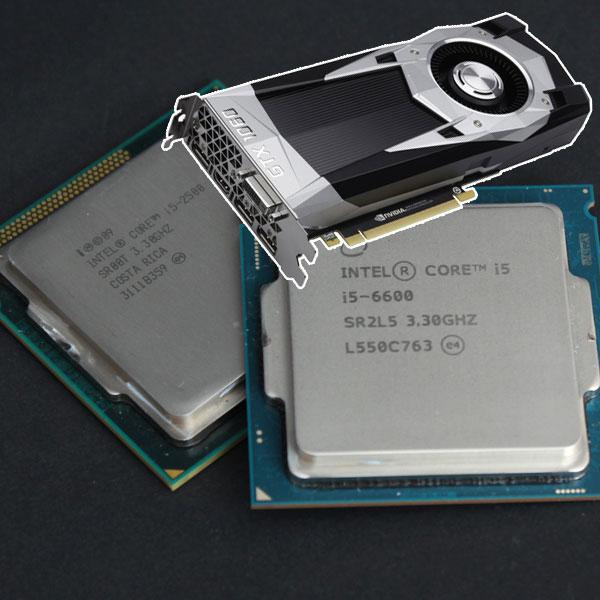 젊은 피 GTX 1060의 코어 i5 2500 노인학대 현장,분연히 일어선 코어 i5 6600?