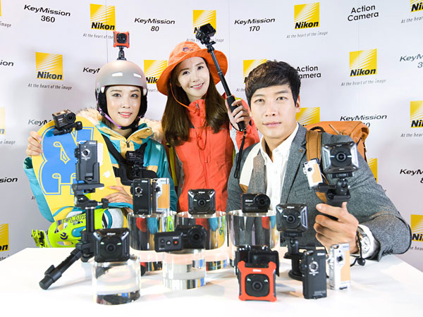 국내 액션캠 시장 15% 점유율 목표, 니콘 최초 액션카메라 키미션 발표