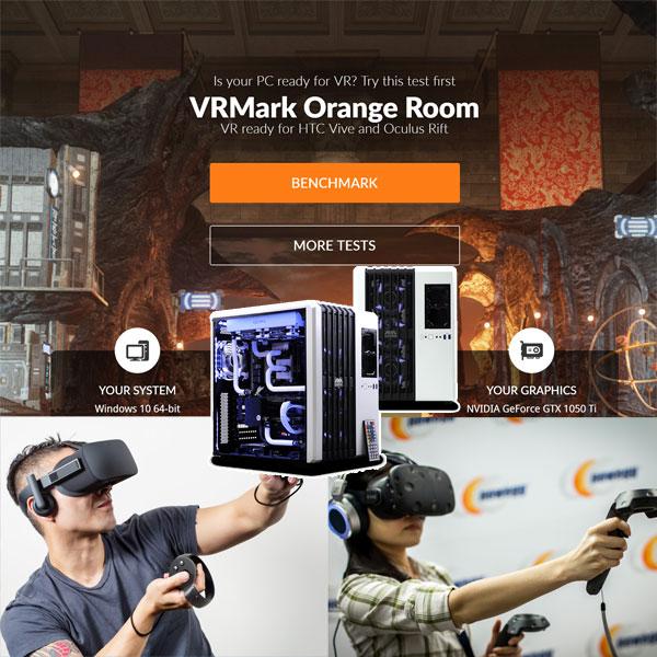 오큘러스 리프트와 HTC Vive vs 내 PC,VR 성능이 궁금할 땐 VRMark