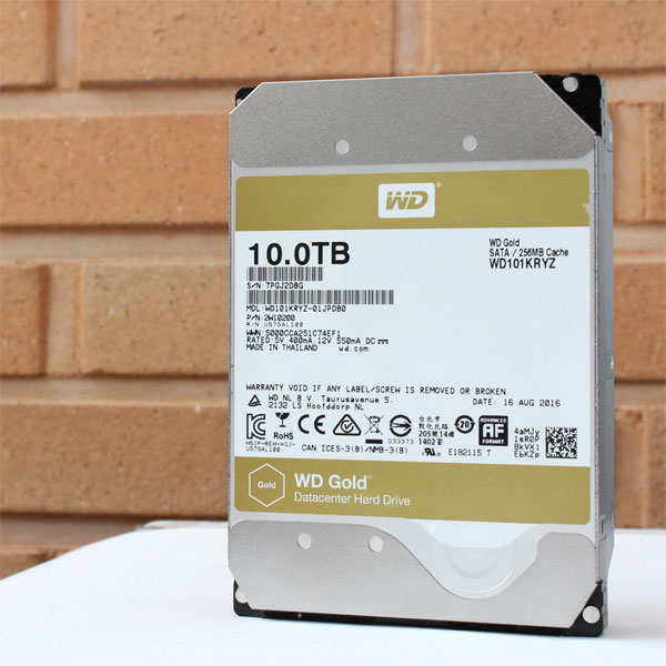 빅데이터 시대  금 같은 자료를 소중히,WD Gold 10TB 하드디스크