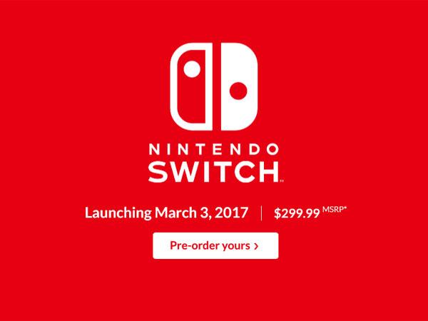 지역코드 폐지하고 3월 3일 출시, 닌텐도 스위치 프리젠테이션
