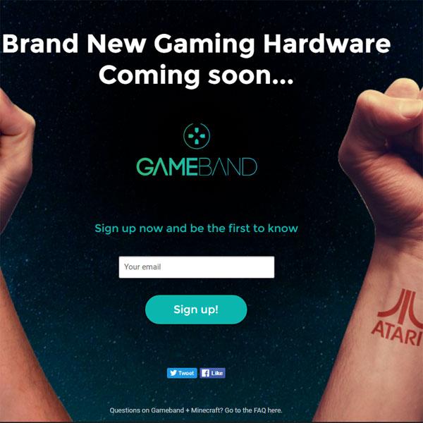 아타리 게임 하드웨어 시장에 재도전? 게임밴드 티저 사이트 공개