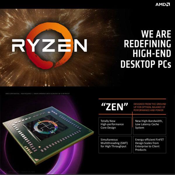폭풍의 핵 AMD 라이젠(Ryzen) 속살 공개,젠(Zen) 아키텍처 해부
