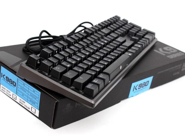 화려한 RGB LED가 어우러진 무접점 키보드, ABKO HACKER K980 V2