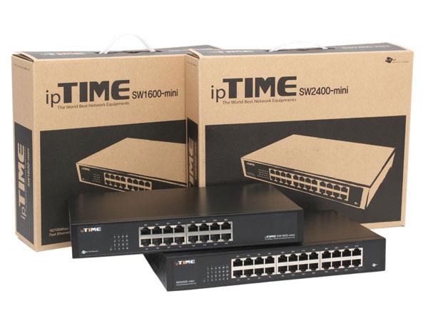 초보도 부담없이 쓰는 네트워크 스위치,ipTIME SW1600/ SW2400-mini