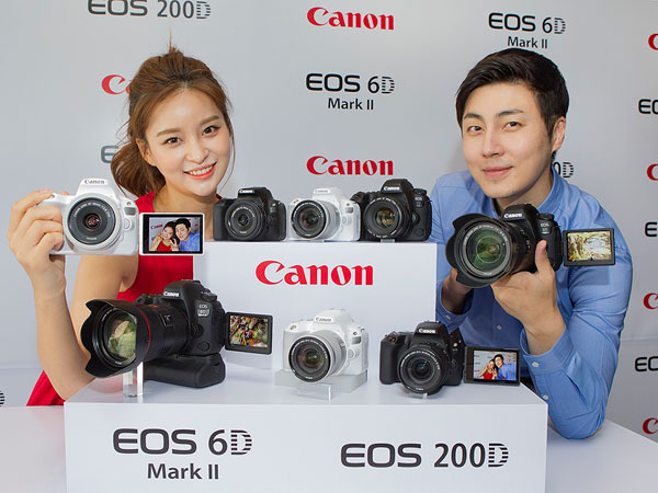 캐논 DSLR 카메라 베스트셀러 귀환, EOS 6D Mark II와 200D 발표