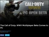 콜 오브 듀티 월드 워 2 PC 오픈 베타 일정 공개