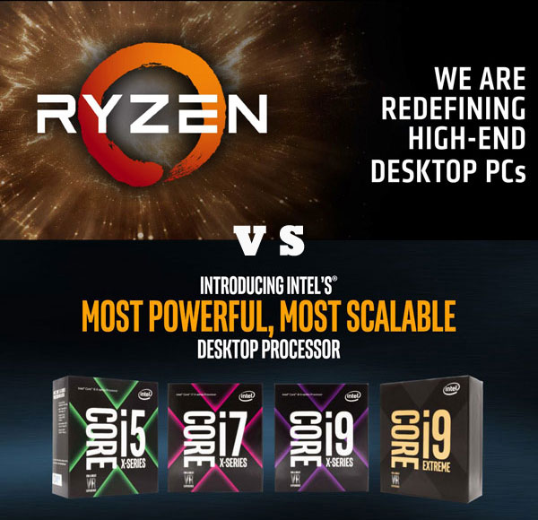 HEDT CPU 전쟁의 시작, 코어 X 와 라이젠 스레드리퍼