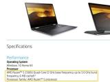 AMD 레이븐 릿지 APU 노트북, HP Envy x360 정보 유출