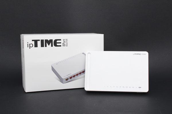 소형 사무실에 적합한 8포트 확장 공유기, ipTIME V508 유선공유기