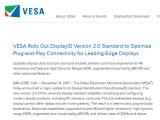 4K-HDR-VR 등 최신 트랜드 지원, VESA DisplayID 2.0 표준 발표