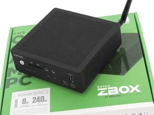 복잡한 세상 간단하고 강한 미니 PC,조텍 ZBOX MI547 Win10 Pro
