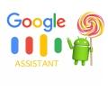 구글 어시스턴트, 안드로이드 태블릿과 5.0 롤리팝 지원