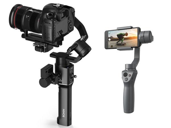 스마트폰 및 카메라용 짐벌, DJI 오즈모 모바일2와 로닌-S 발표