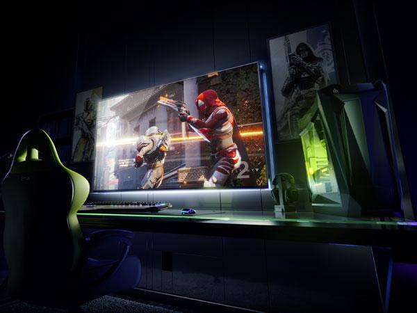 65인치 4K 120Hz G-SYNC HDR에 쉴드 내장, 게이밍 모니터 엔비디아 BFGD 발표