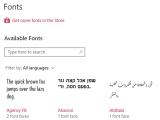 MS, 윈도우10 레드스톤4에 글꼴 관리 기능 추가할 예정