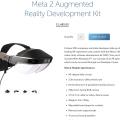 MS 홀로렌즈의 반 값, 메타2 증강현실 개발자 킷 판매 개시