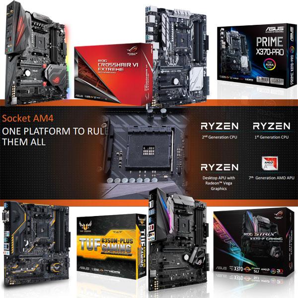 2018년 새해 초 주목받는 AMD 라이젠, 내게 맞는 ASUS AM4 보드는 무엇?