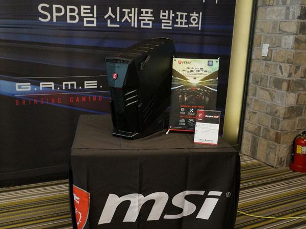 8세대 코어로 강력해진 데스크탑 PC와 커브드 모니터, MSI 게이밍 신제품 발표회