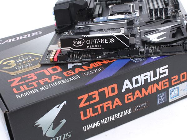 옵테인 메모리와 함께 PC 성능 최대로,기가바이트 Z370 AORUS 울트라 게이밍 2.0-OP