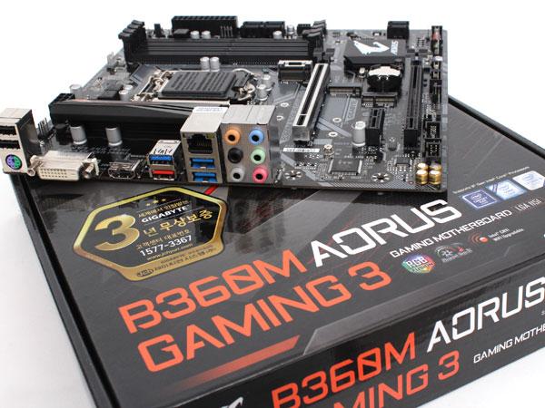삼삼한 mATX B360 칩셋 메인보드,기가바이트 B360M 어로스 게이밍 3 제이씨현