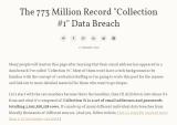 최소 87GB 용량의 11억 6천만 개인정보가 해킹 포럼서 공유 중
