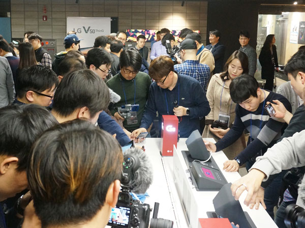 2019 LG모바일 소셜미디어 데이, LG G8 및 V50 ThinQ 특징 체험