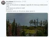 안드로이드, 특정 사진을 배경화면으로 설정 시 스마트폰 멈추는 버그 발견