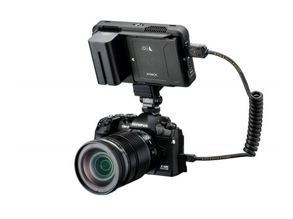 올림푸스, 미러리스 카메라에서 ATOMOS NINJA V RAW 레코딩 펌웨어 개발 중