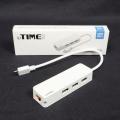 USB허브 기능이 들어간 C타입 랜어댑터,ipTIME U1003C