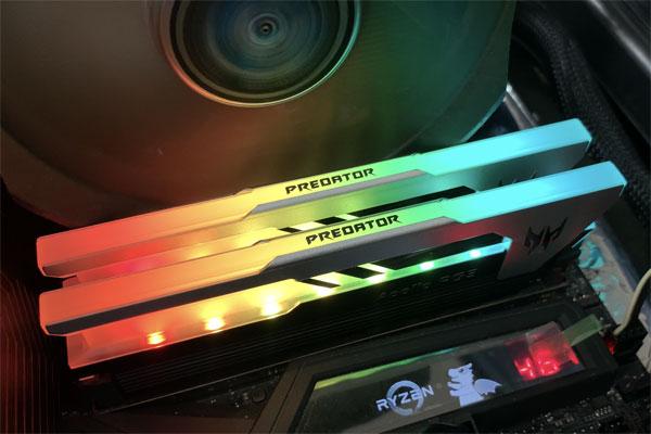 게이밍에 걸맞는 3600MHz PC 메모리,에이서 프레데터 DDR4-3600 CL16 아폴로