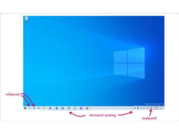 MS, 윈도우 10의 태블릿용 UI 개선 작업 중